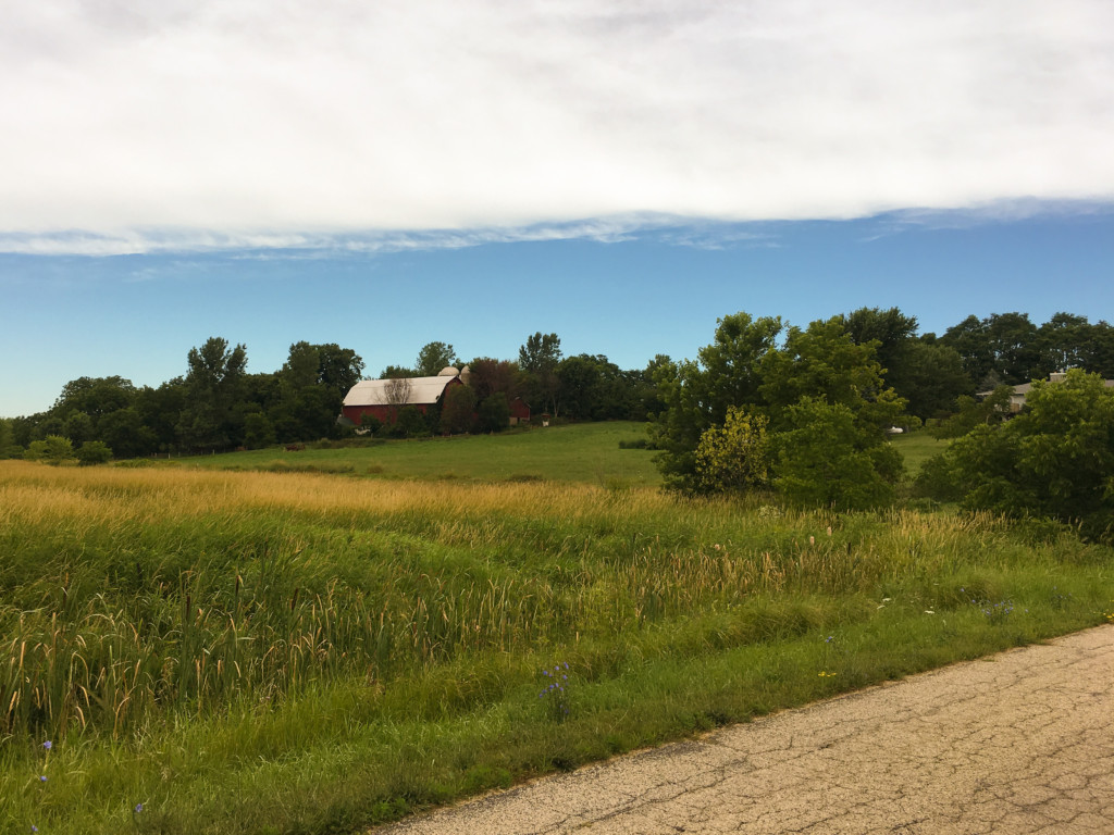 Beautiful red Wisconsin barn and scenery