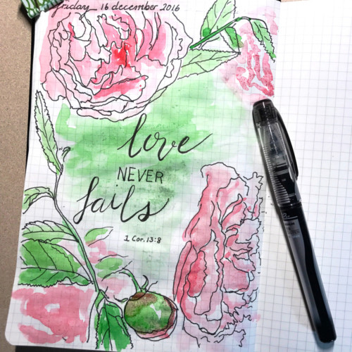 love never fails journal page