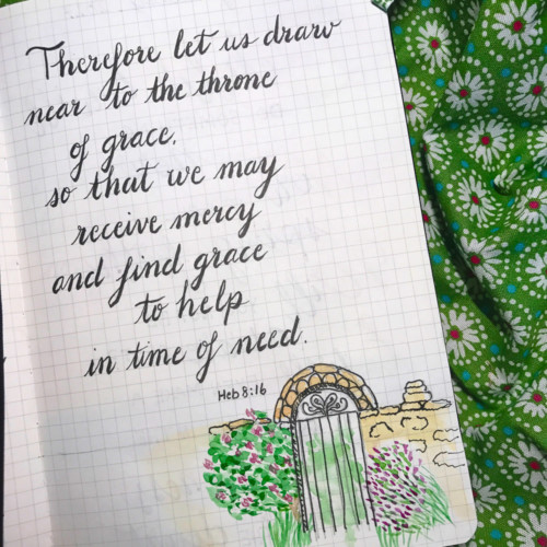 Throne of grace journal page