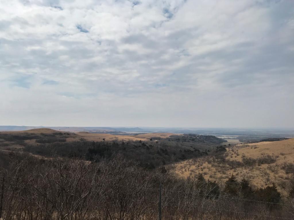 Midwestern winter landscape