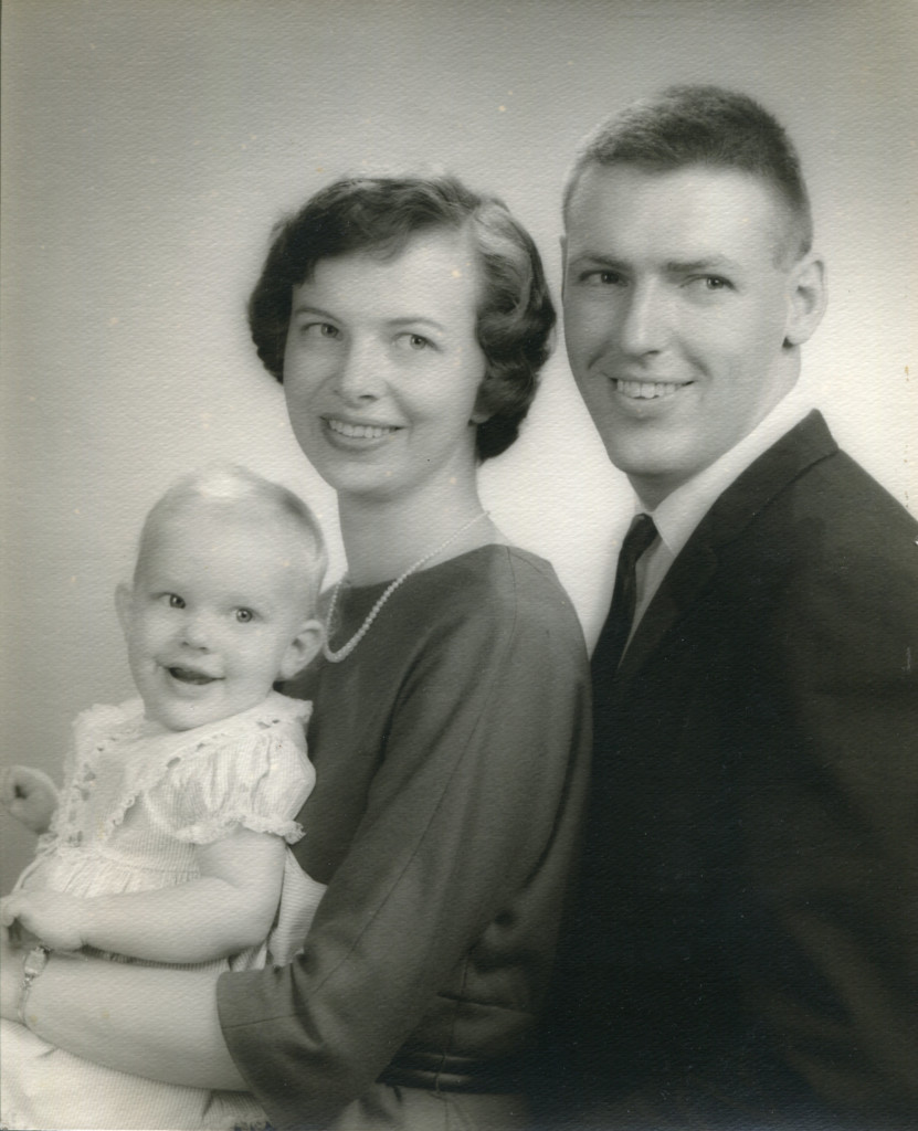 Mom, Dad and me 1964