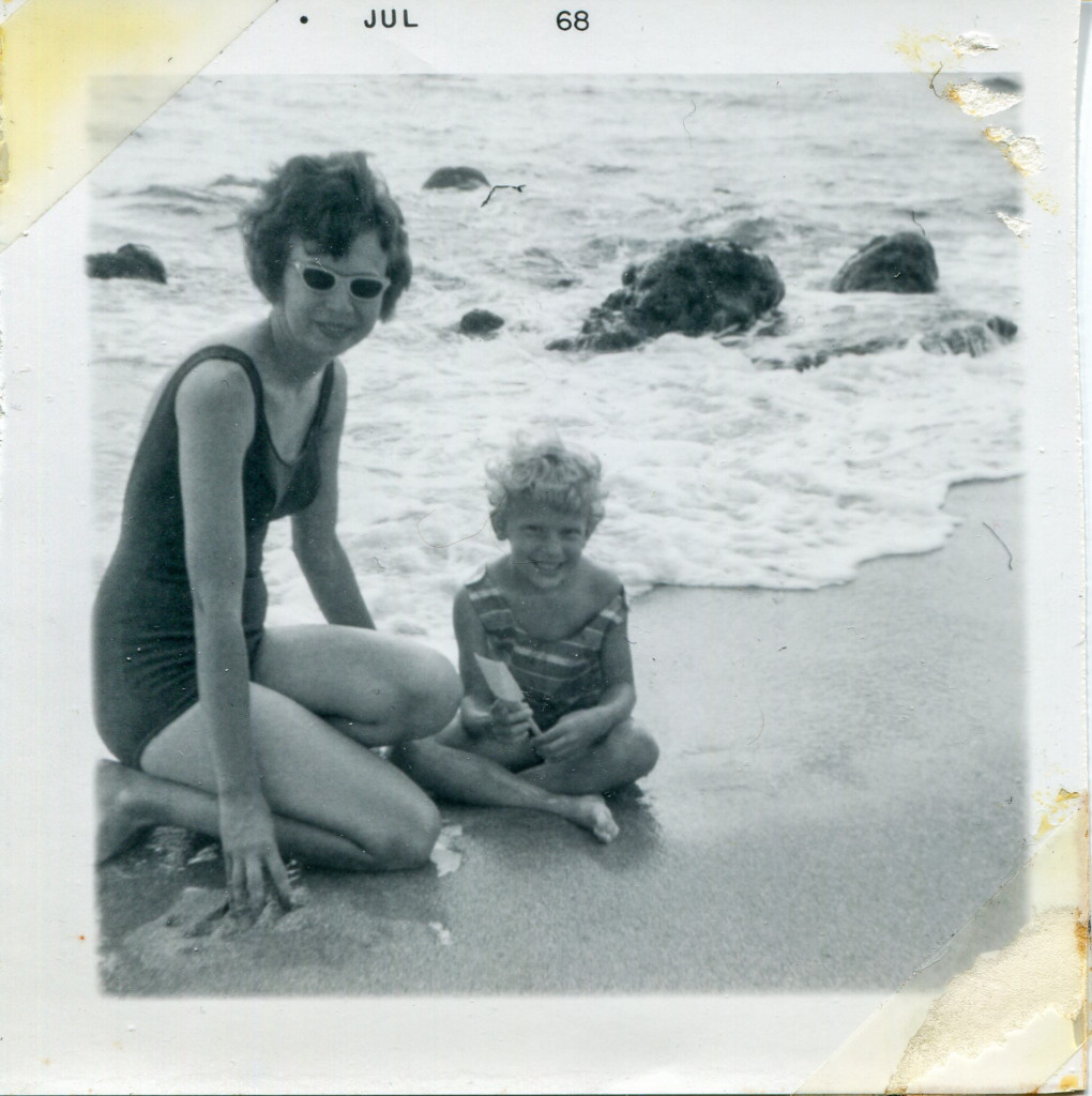Mom and me at ocean
