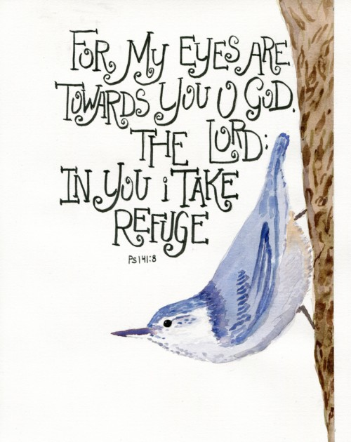 refuge print ps. 141:8